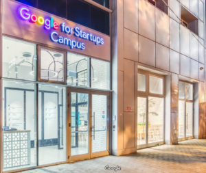 Image of Google For Startups Entrance.