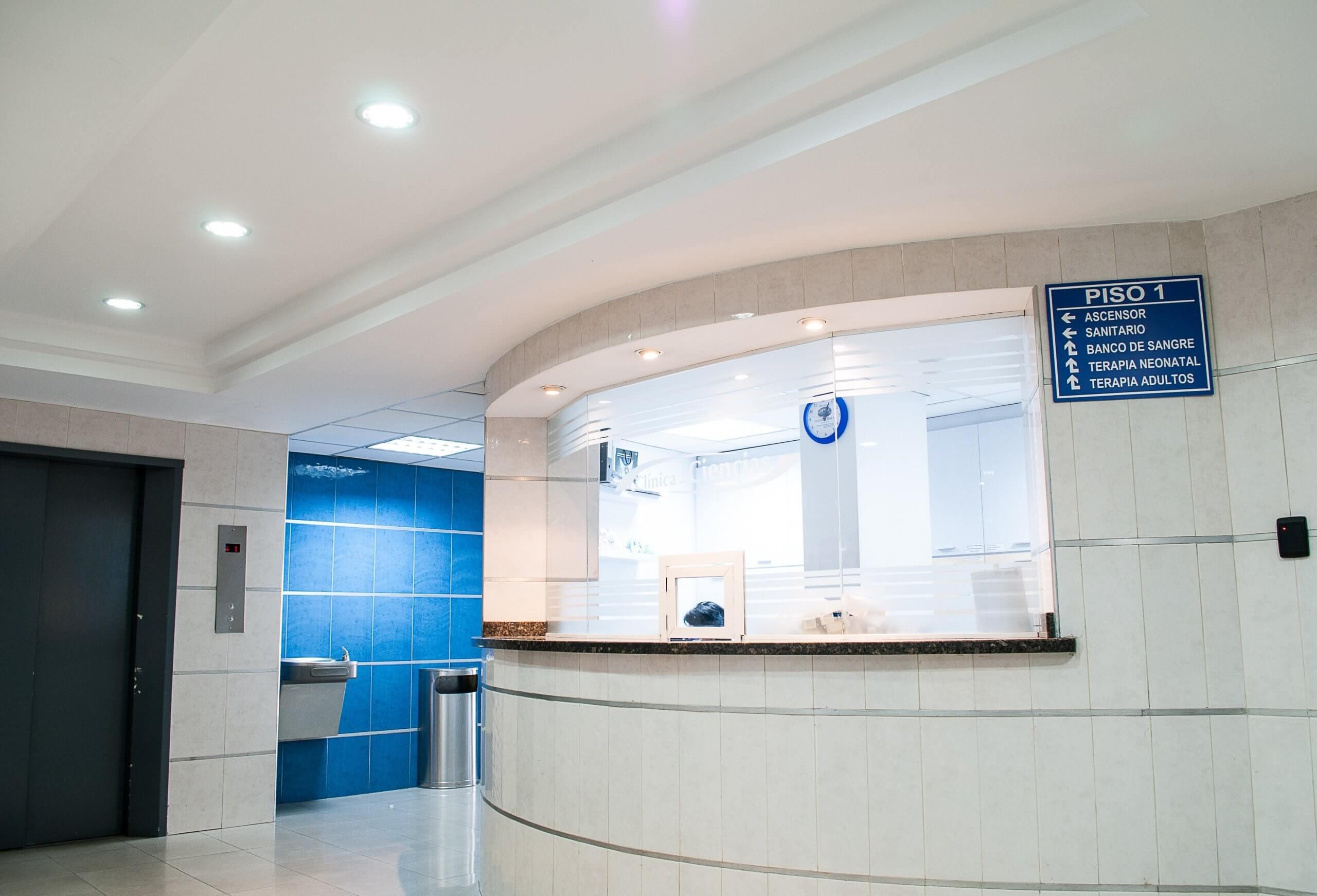 A reception of an Eye Clinic