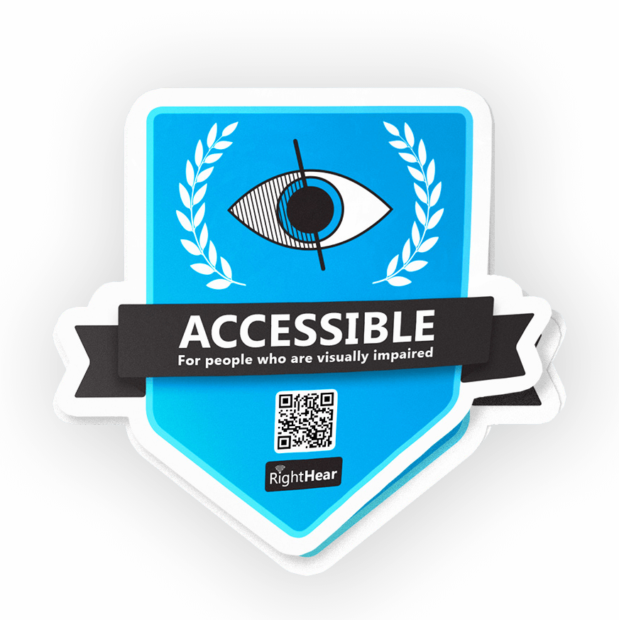 RightHear Accessible Badge for business