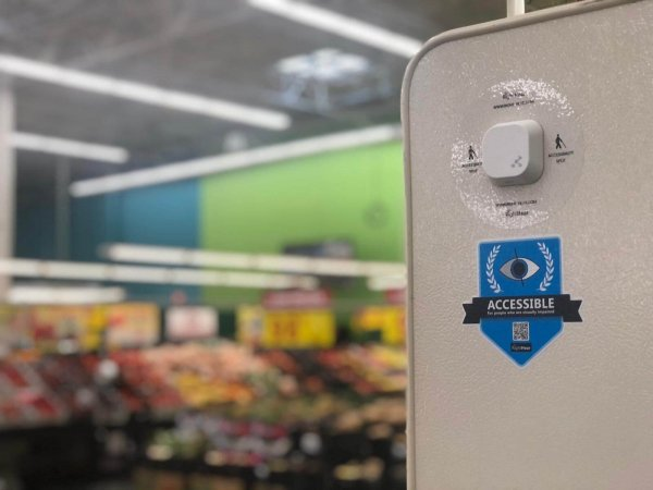 RightHear beacon installed in a store